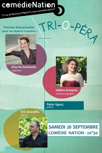 Samedi 28 septembre : Tri'opéra